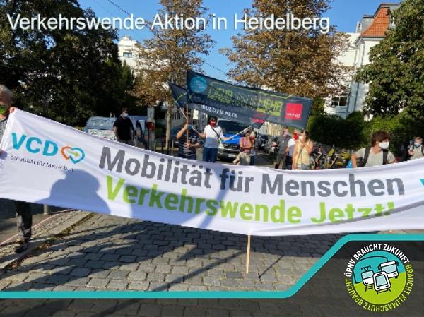 Verkehrswende Aktion in Heidelberg